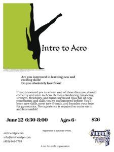 Intro to Acro Workshop @ Edge | Airdrie | Alberta | Canada