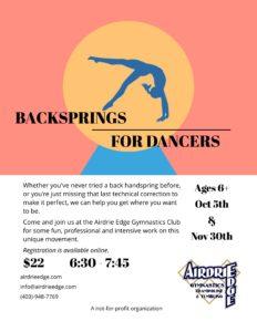 Back Handspring Workshop