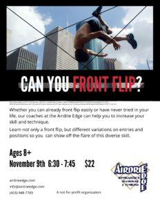 Front Flip Workshop
